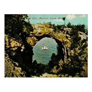 Arch Rock Mackinac Island, Michigan 1911 Postcard