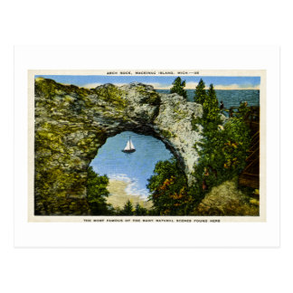 Arch Rock Mackinac Island, Michigan Postcard