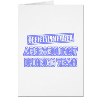 Archaeologist Drinking Team Card