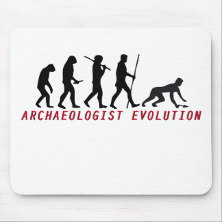 archaeologist evolution mouse pad