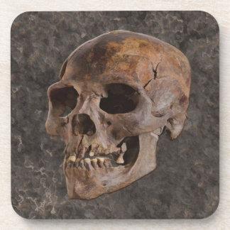 Archaeology II - Skull on Stone-effect Background Drink Coaster