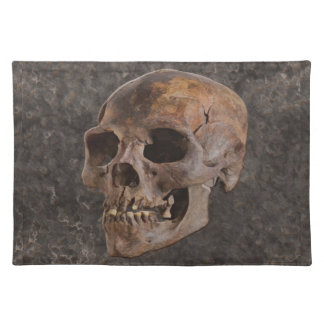 Archaeology II - Skull on Stone-effect Background Placemat
