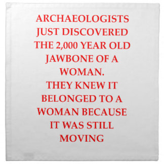ARCHAEOLOGY NAPKIN