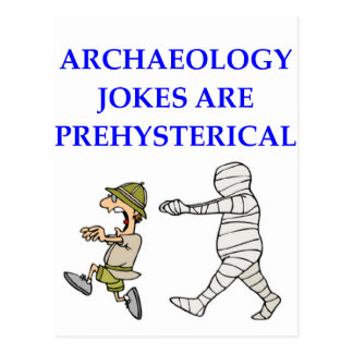 archaeology postcard