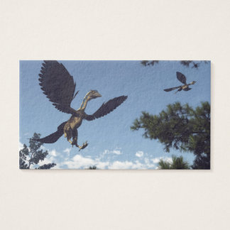Archaeopteryx birds dinosaurs flying - 3D render Business Card
