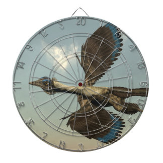 Archaeopteryx birds dinosaurs flying - 3D render Dartboard