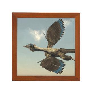 Archaeopteryx birds dinosaurs flying - 3D render Desk Organiser
