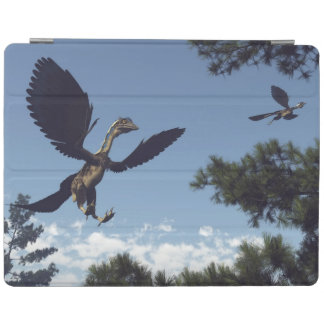 Archaeopteryx birds dinosaurs flying - 3D render iPad Cover