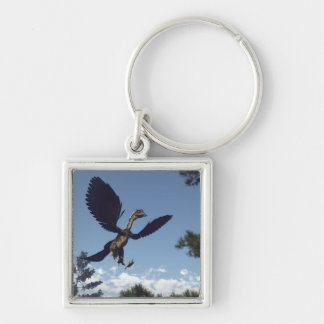 Archaeopteryx birds dinosaurs flying - 3D render Key Ring