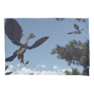 Archaeopteryx birds dinosaurs flying - 3D render Pillowcase