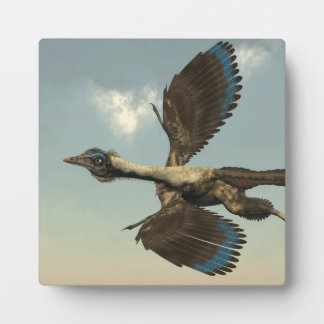 Archaeopteryx birds dinosaurs flying - 3D render Plaque