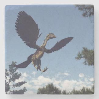 Archaeopteryx birds dinosaurs flying - 3D render Stone Coaster