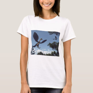 Archaeopteryx birds dinosaurs flying - 3D render T-Shirt