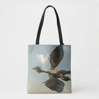 Archaeopteryx birds dinosaurs flying - 3D render Tote Bag