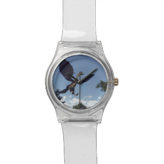 Archaeopteryx birds dinosaurs flying - 3D render Wrist Watch