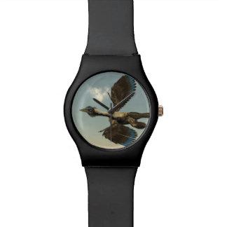 Archaeopteryx birds dinosaurs flying - 3D render Wristwatch