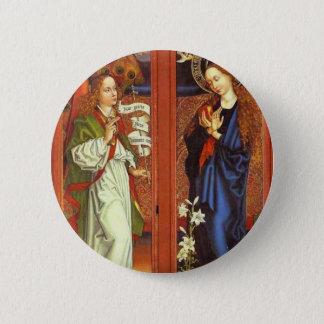 Archangel Gabriel - Annunciation - Schongauer 6 Cm Round Badge
