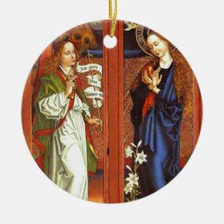 Archangel Gabriel - Annunciation - Schongauer Ceramic Ornament