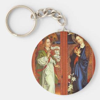 Archangel Gabriel - Annunciation - Schongauer Key Ring
