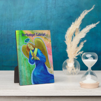 Archangel Gabriel Display Plaque with easel