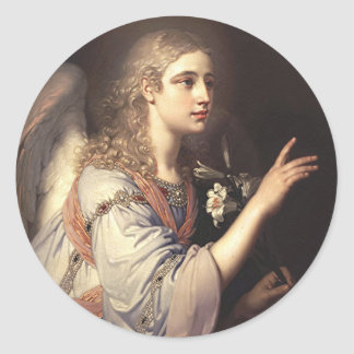 Archangel Gabriel from the Annunciation Classic Round Sticker