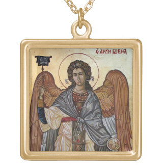 Archangel Gabriel Gold Plated Necklace