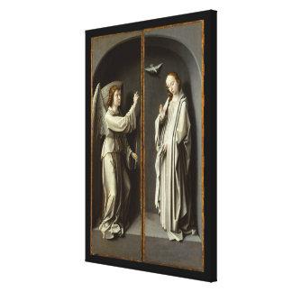 Archangel Gabriel; The Virgin Annunciate Canvas Print