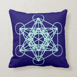 Archangel Metatron Sacred Geometry Square Pillow