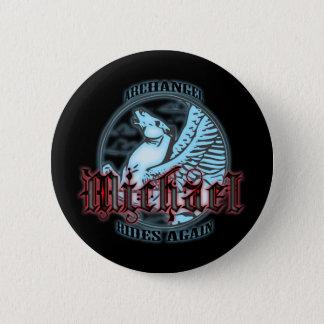 Archangel Michael 6 Cm Round Badge