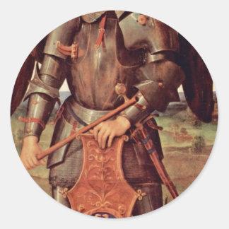 Archangel Michael By Perugino Pietro (Best Quality Classic Round Sticker