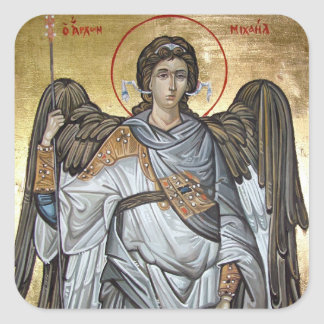 Archangel Michael Square Sticker