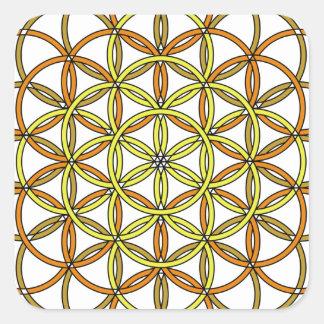 Archangel Ramiel Delight Square Sticker