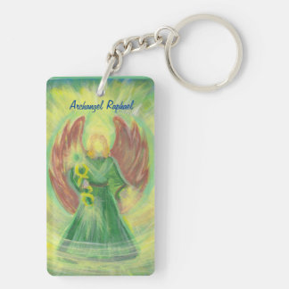 Archangel Raphael and Gabriel Double-Sided Rectangular Acrylic Key Ring