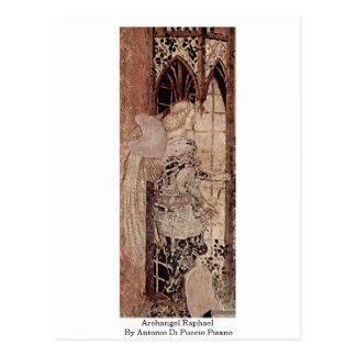 Archangel Raphael By Antonio Di Puccio Pisano Postcard