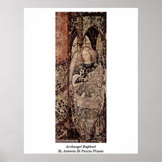 Archangel Raphael By Antonio Di Puccio Pisano Poster