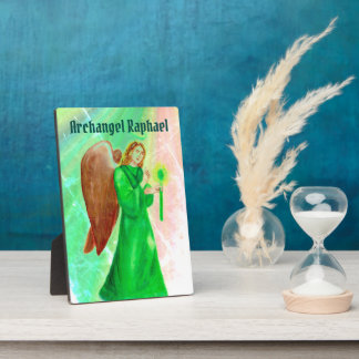 Archangel Raphael Display Plaque w/ easel