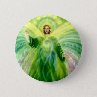 Archangel Raphael Healing Light 6 Cm Round Badge