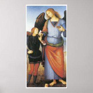 Archangel Raphael with Tobias, c. 1496-1500 Poster