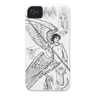 Archangels With Spear And Lizard iPhone 4 Case-Mate Cases