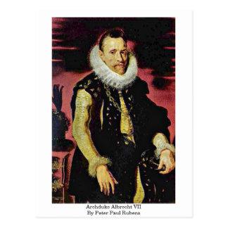 Archduke Albrecht Vii By Peter Paul Rubens Postcard