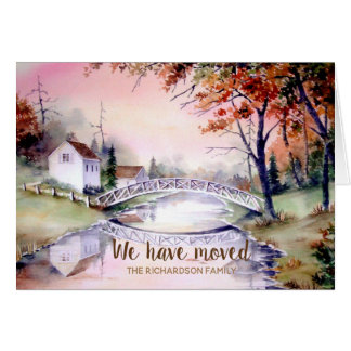 Arched Bridge New Home We Have Moved Card