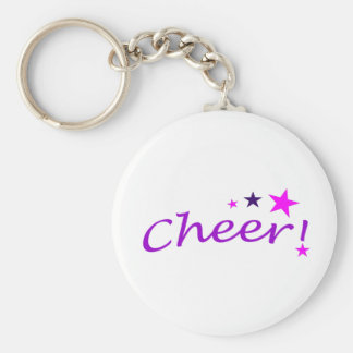 Arched Cheer with Stars Key Ring