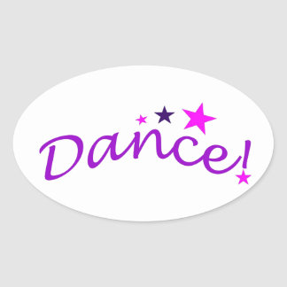 Arched Dance with Stars Oval Sticker