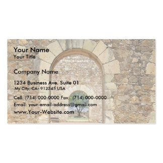 Arched Doors At The Old Fort Business Card Template