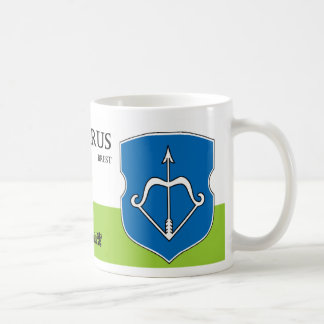 Archer Bow w/ Arrow Coat of Arms Belarus Coffee Mug