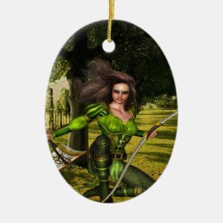 Archer Elf Ceramic Ornament