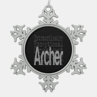 Archer Extraordinaire Snowflake Pewter Christmas Ornament