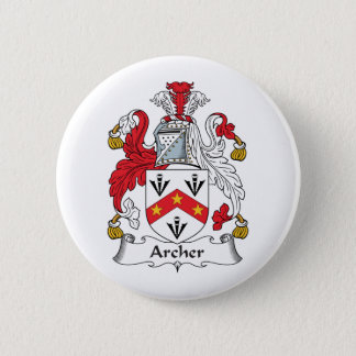 Archer Family Crest 6 Cm Round Badge