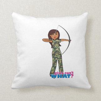 Archer Girl in Camo - Dark Pillow