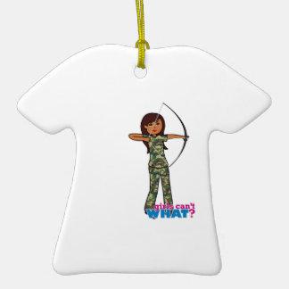 Archer Girl in Camo - Dark Ornaments